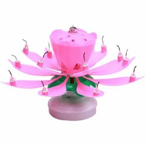 Rotating Musical Flower Birthday Candle Packaging Type Box Packet Mark As Favourite