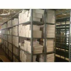 6 Feet Mild Steel Warehouse Slotted Angle Storage Rack, 10-15 Kg