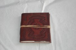Embossed Handmade Vintage Leather Journal