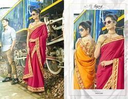 ethnic  Pink  Designer Bridal Saree