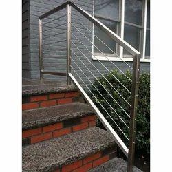 Silver Staircase Railing