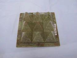 Stone Navagraha 9 Pyramids Plates