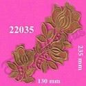Metallic Polyester Gold Zari Work Patch