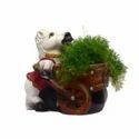 Horse Holding Cart Planter