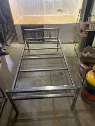 Mild Steel Folding Bed, Size: 1900*930*450mm