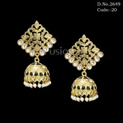 Traditional Kundan Jhumki Earrings