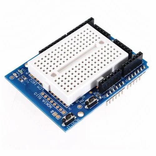 Prototype With Breadboard Shield For Arduino Uno