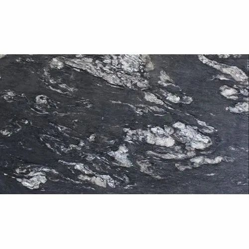 Titanium Black Leather Granite Slab, For Countertops, Thickness: 15-20 mm