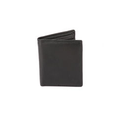MEN BLACK LEATHER NOTE CASE