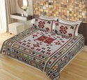 Cotton Printed Barmeri Double Bed Sheet