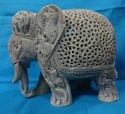 Soapstone Carved Elephant Sculpture