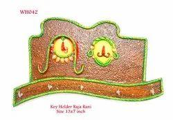 Wooden Raja Rani Keyholder