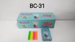 Bc-31 Mitthoo Spiral Birthday Candle Light Blue Box