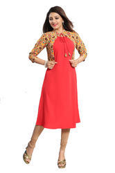 Red Kurti With Jacket