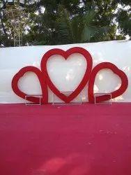 Dil Shape Wedding Decoration Background Stage