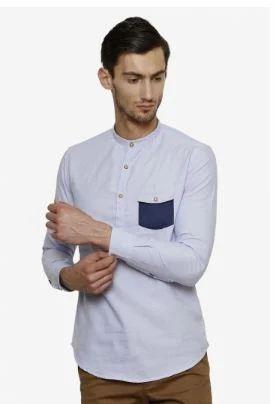 6a0515d45cd Light Blue Casual Smart Cotton Kurta at Rs 750