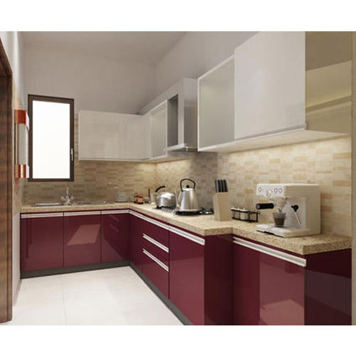 Pvc L Shape Modern Modular Kitchen Rs 850 Square Feet: L Shape Acrylic Modular Kitchen, Rs 1200 /square Feet, Dove Green Enterprises
