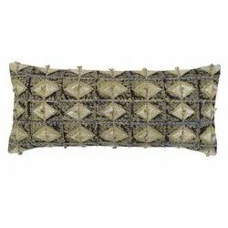 Embroiderered Diamond Pattern Cotton Pillow Cover