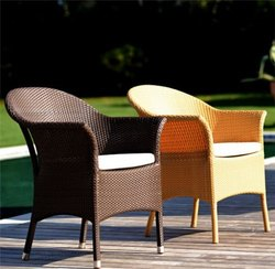 Outdoor Garden Wicker Dining Chair