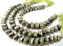 Natural Pyrite Twisted Shape Briolette Beads 10mm Top Quality Gemstone Beads Strand 8 inch Long