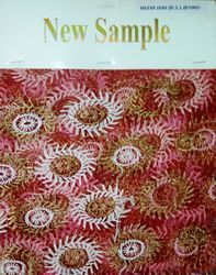 Net Embroidery Neem Jari Fabric