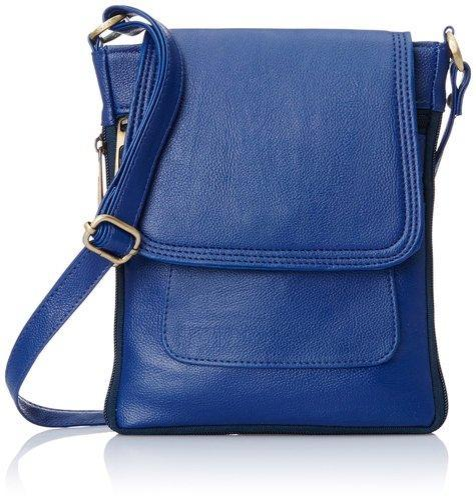 Blue Leather Girls Side Bag b55e4be61cfb4