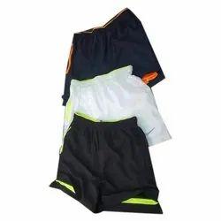 Polyester Plain Sports Shorts, Size: Medium