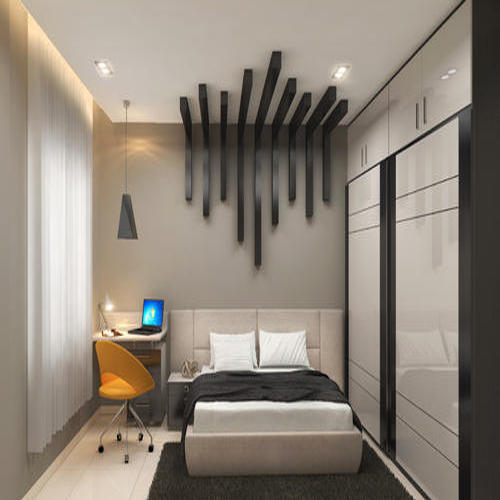 Bedroom Designs From Professionals In Hyderabad  C2NyYXBlLTEtRHBWSGVH: Bedroom Sliding Wardrobe At Rs 1150 /square Feet