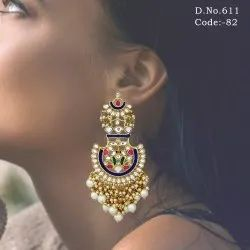 Designer Wedding Bollywood Style Kundan Earrings