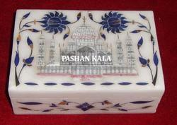 Taj Mahal Design Marble Inlay Box