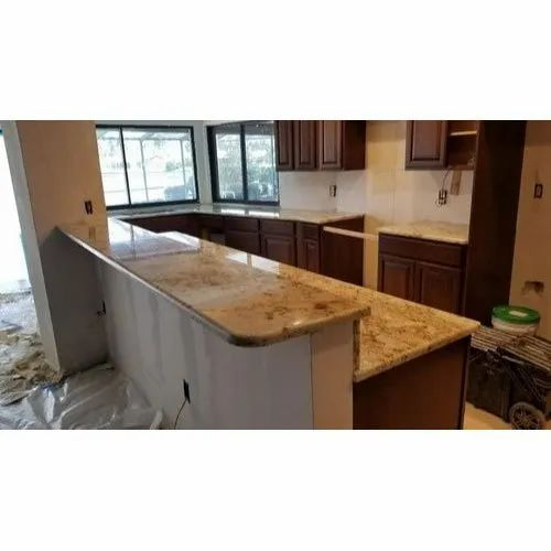 Light Brown Granite Kitchen Countertop At Rs 170 Square Feet