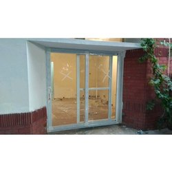 Lesso White UPVC Sliding Door with Mesh Additional Trek, For Home,Office