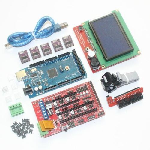 3d Printer Electronics Kit Mega 2560 Ramps1 4 Drv8825 Drivers 12864 Full Lcd