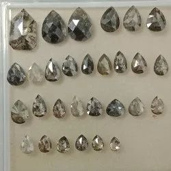 Natural Loose Rose Cut Pear Shape Mix Color Diamond