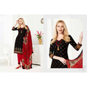 Ladies Cotton Casual Wear Printed Black Suit