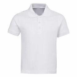 08d0e4a448132 Cotton White School Plain T Shirt