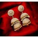 Brass Artificial Ladies Designer Pearl Jhumka Earring