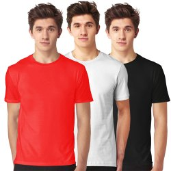 Mens Plain Combo T- Shirt
