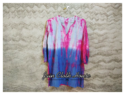 Casual Stitched Cotton Beach Tie Dye Blouse
