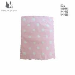 Hand design Gift wrapping paper - Pink with white dots
