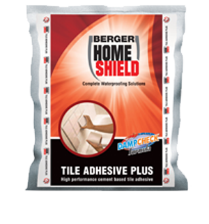 berger home shield tile adhesive plus tile protect chemical