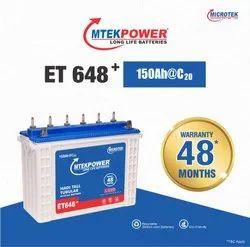 Microtek ET 648 150Ah Inverter Battery, Warranty: 24+24 Months