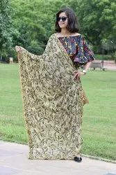 Embroidered Chiffon Dupatta With Border Embroidery