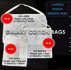 Natural Plain Cotton Carry Bags