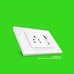 15.4 Glasgow Slim Electric Switch And Socket, 240