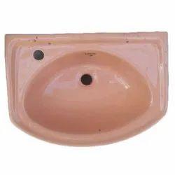 Brown Ceramic Wall Hung Wash Basin