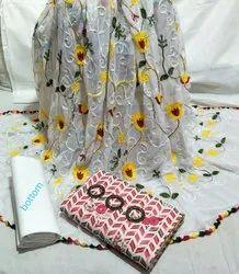 Trends And Rivaaz Unstitched Pretty Slub Cotton Salwar Suit