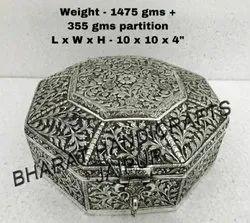 White metal Antique Jewellery Box