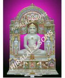 Marble Jain Parikar Moorti Statues