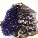 Organza Silk Printed Dry Clean Chanderi Fancy Saree